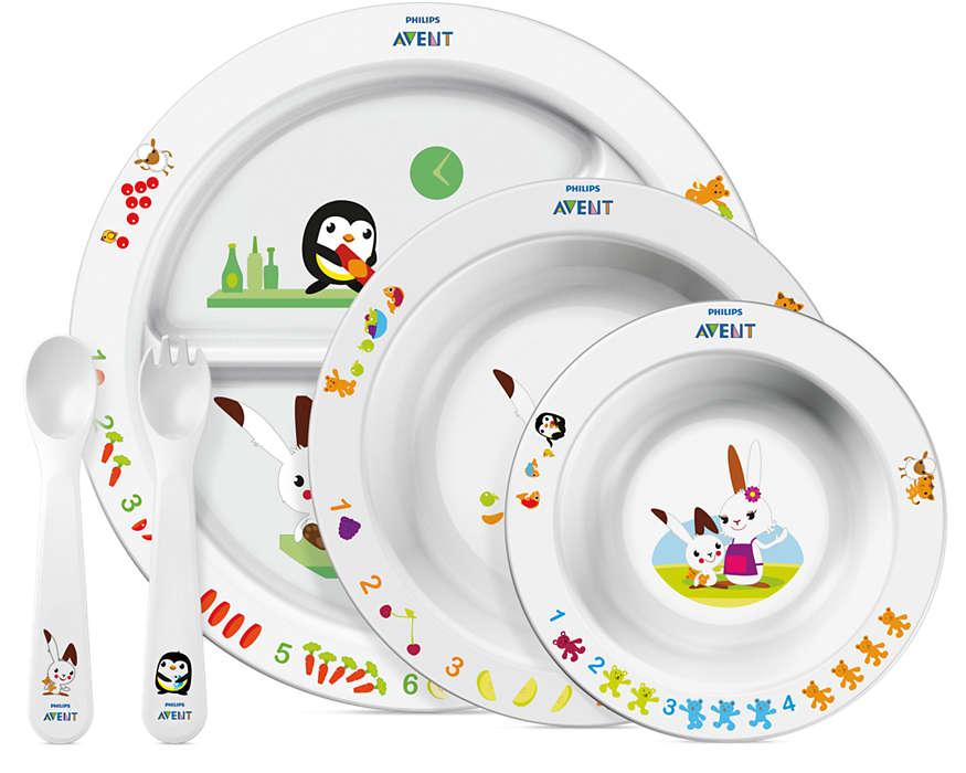 Набор посуды для малыша от 6 месяцевТовары для кормления<br>Набор посуды для малыша от 6 месяцев<br>