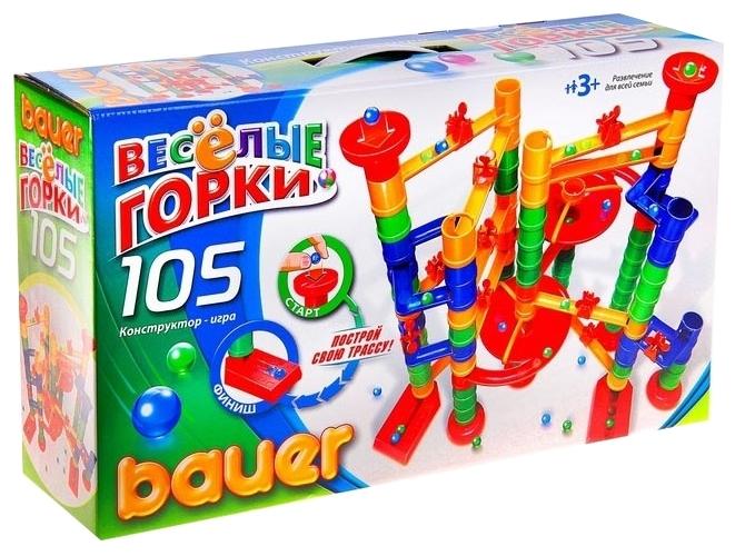 Конструктор «Весёлые горки», 105 элемента - Конструкторы Bauer Кроха (для малышей), артикул: 127409