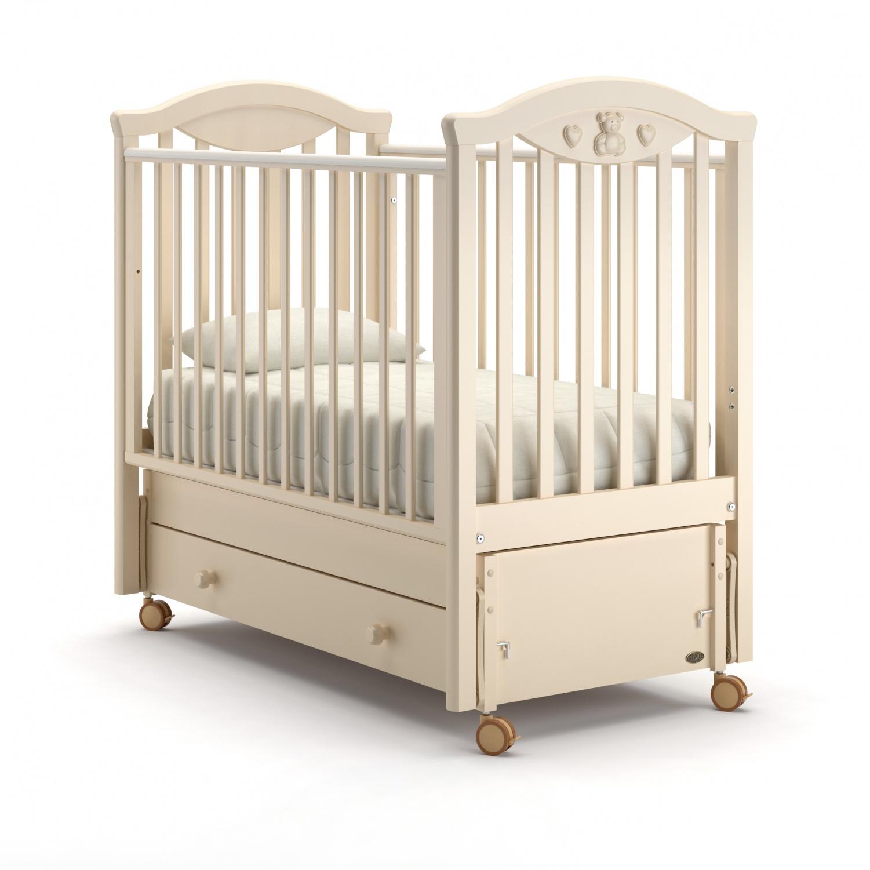 Купить Детская кровать Nuovita Lusso swing продольный, цвет - Avorio/Слоновая кость