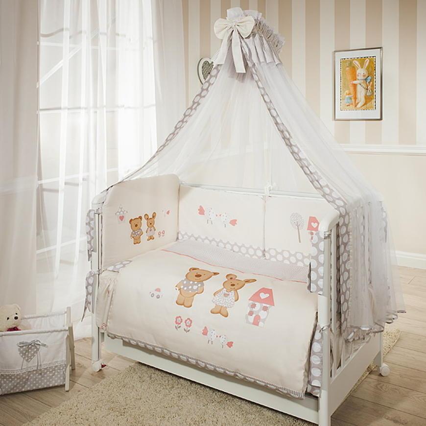 Комплект постельного белья Венеция, бежевыйДетское постельное белье<br>Комплект постельного белья Венеция, бежевый<br>