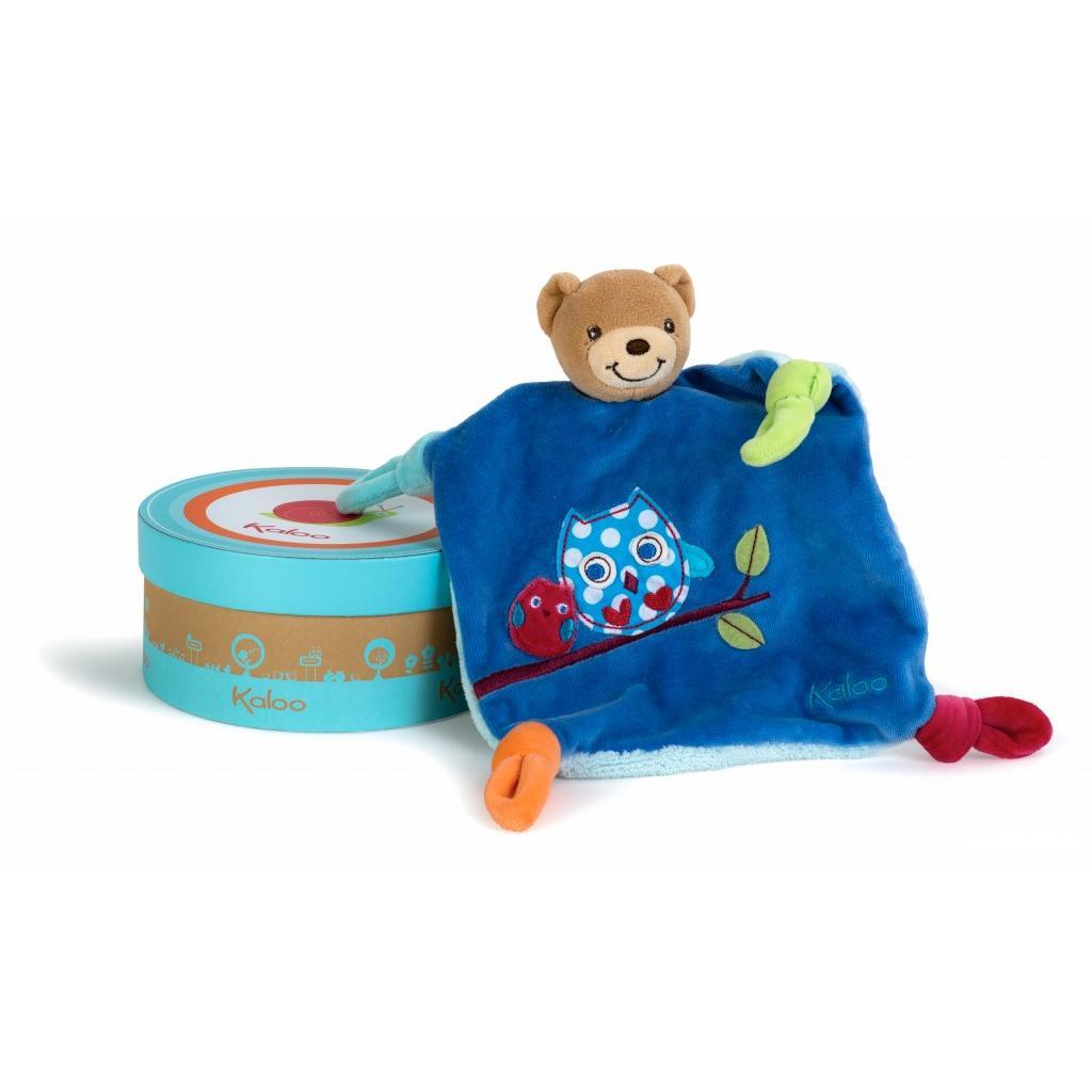 Купить Мягкая игрушка-комфортер - Мишка Сова из серии - Цвета, Kaloo