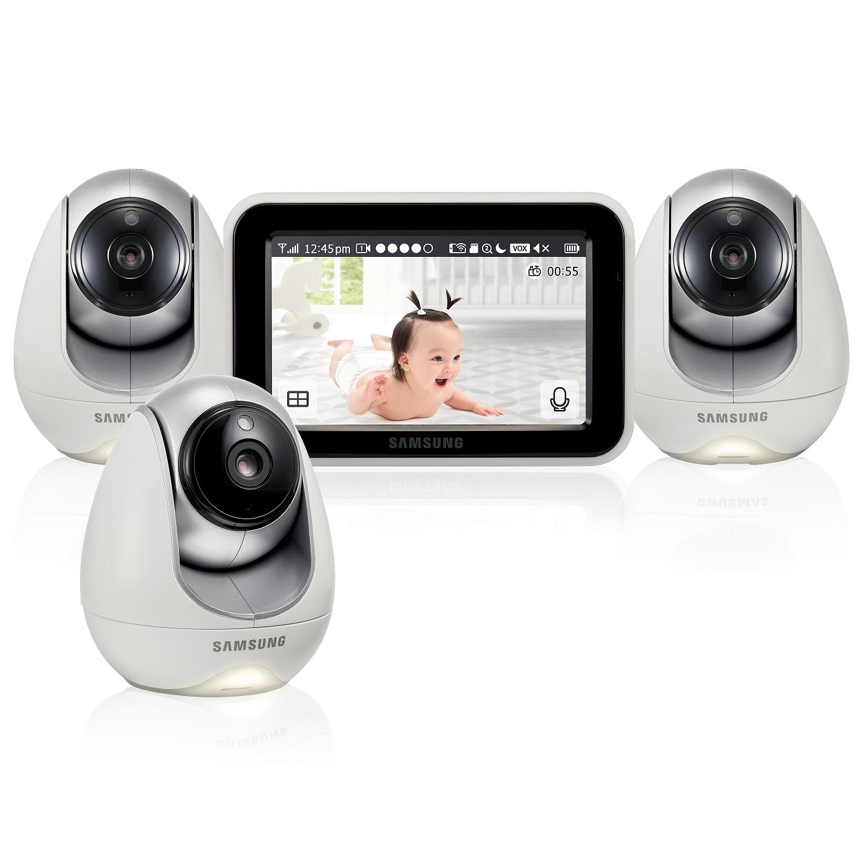 Купить Видеоняня Samsung SEW-3053WPX3 с 3 камерами