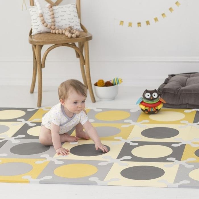 Напольный коврик Playspot, серый/золотой фото