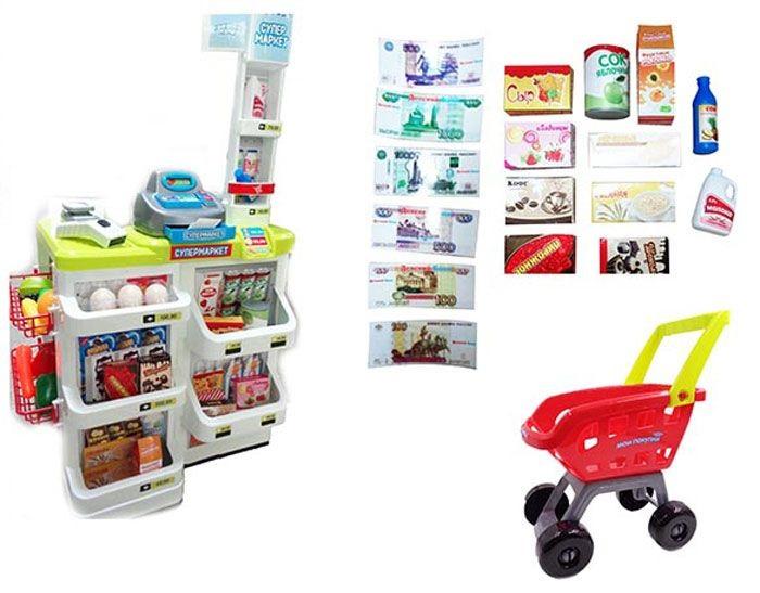 Супермаркет Помогаю Маме, в наборе с аксессуарамиДетская игрушка Касса. Магазин. Супермаркет<br>Супермаркет Помогаю Маме, в наборе с аксессуарами<br>