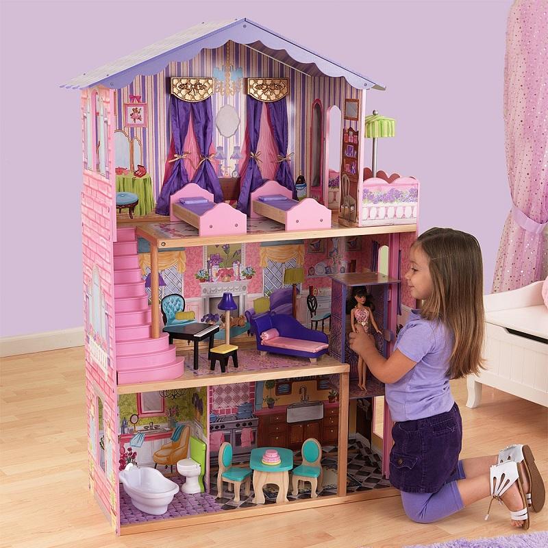 Купить Деревянный домик Барби - My Dream Mansion - Особняк мечты, с мебелью 13 элементов, KidKraft