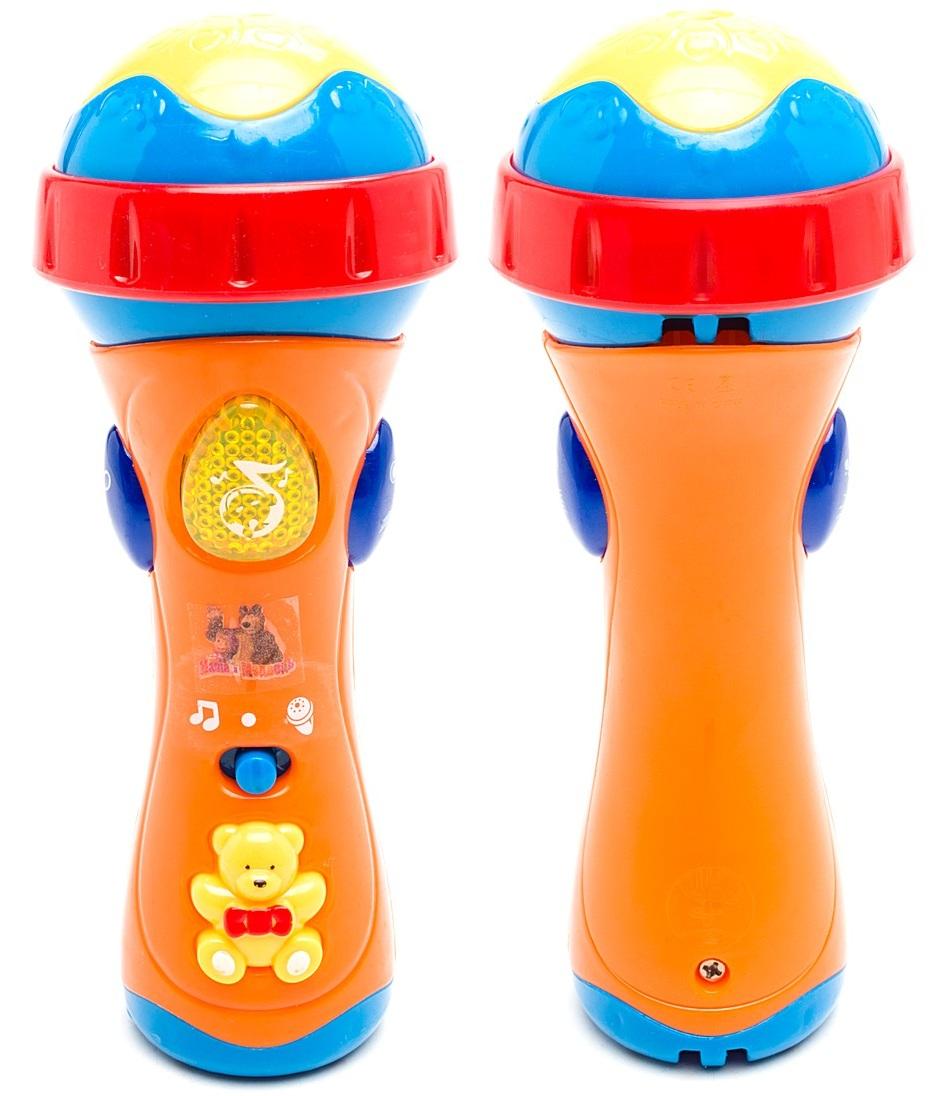 Купить Микрофон «Маша и медведь» со светом и песнями из мультика, Играем вместе