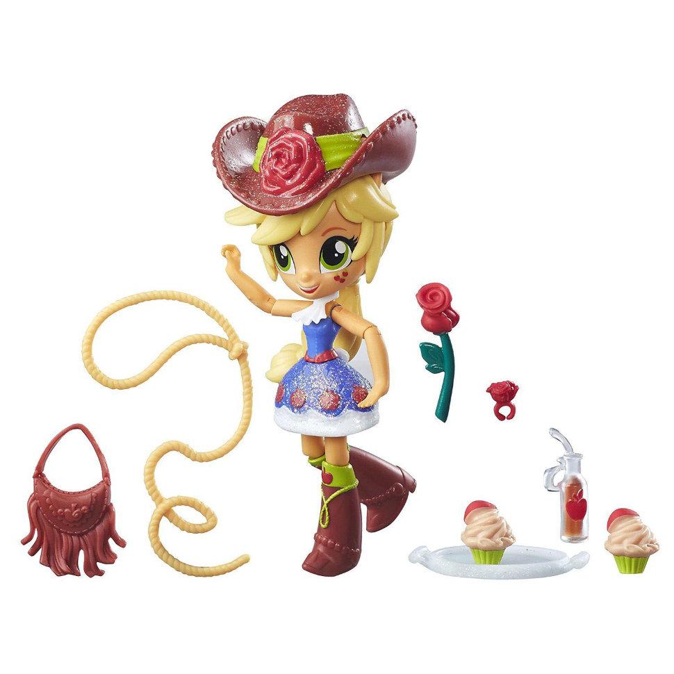 Мини-кукла из серии Эквестрия Герлз с аксессуарами – ЭпплджекМоя маленькая пони (My Little Pony)<br>Мини-кукла из серии Эквестрия Герлз с аксессуарами – Эпплджек<br>