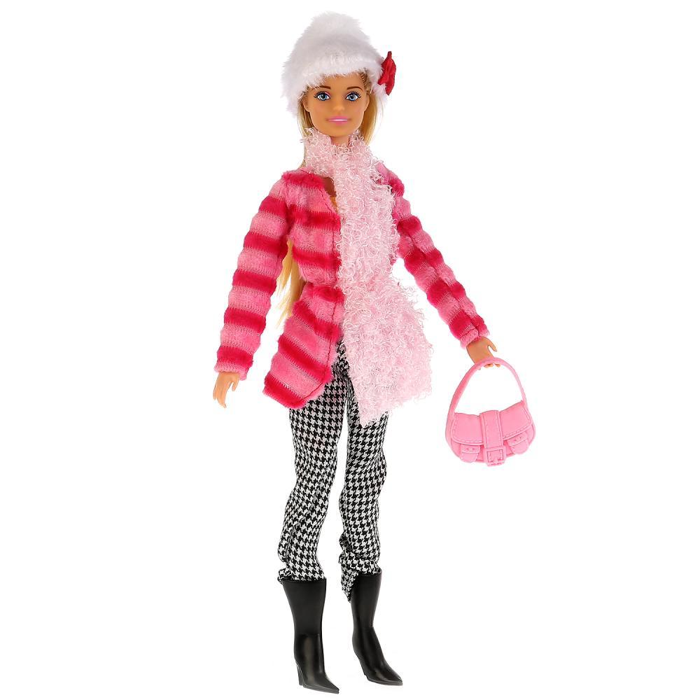 Купить Кукла София в полосатой куртке и шапке, 29 см. с аксессуарами, Карапуз