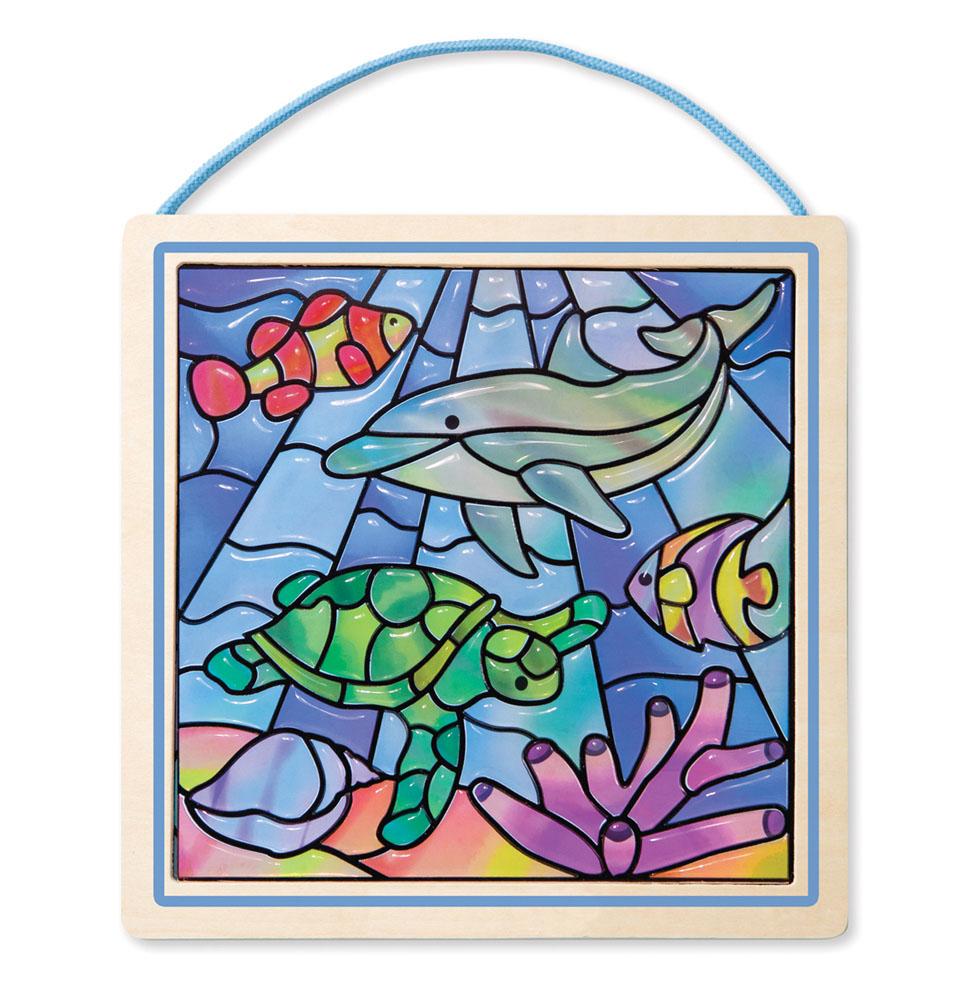 Купить Цветное стекло - подводные фантазии, Melissa&Doug