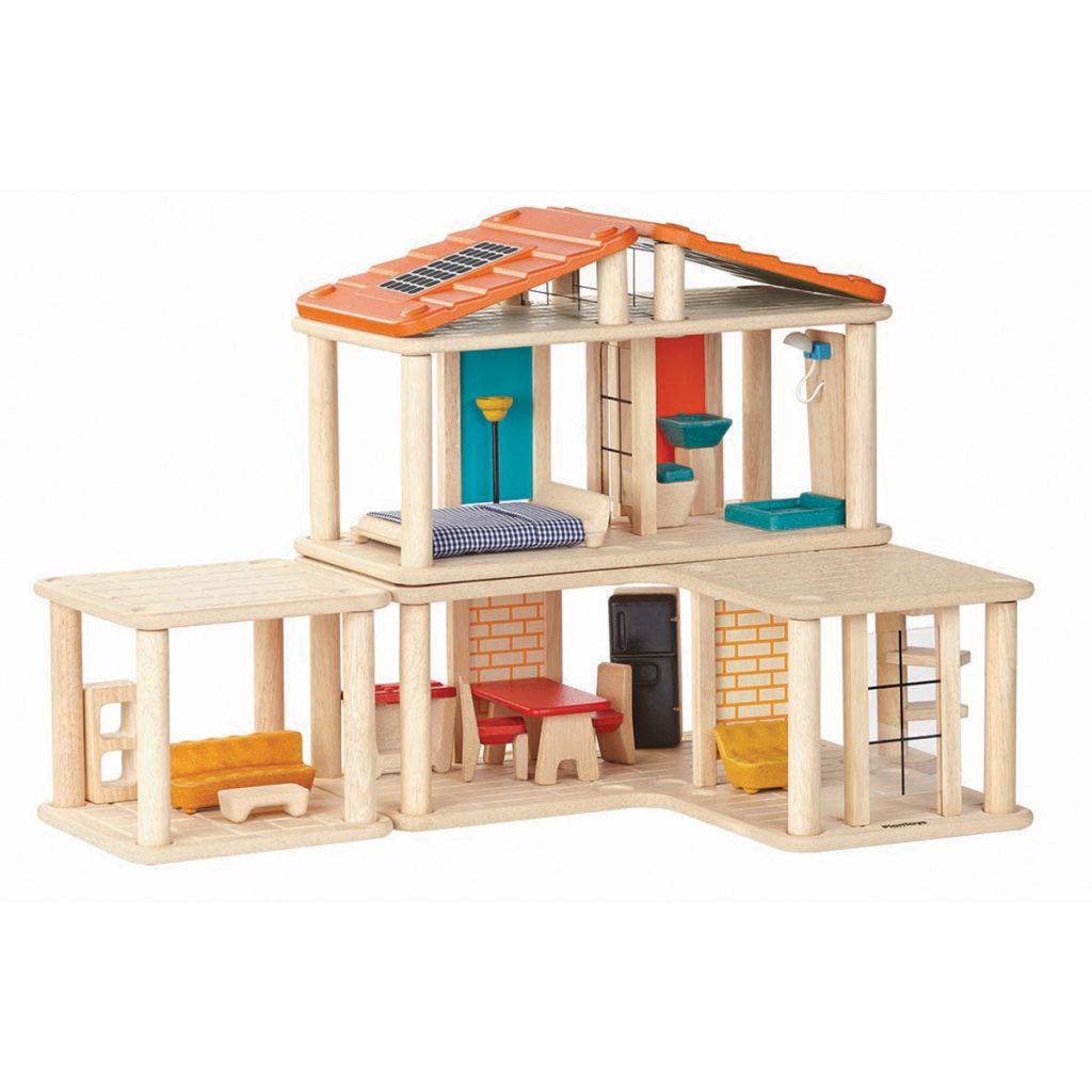 Кукольный домик с мебелью фото