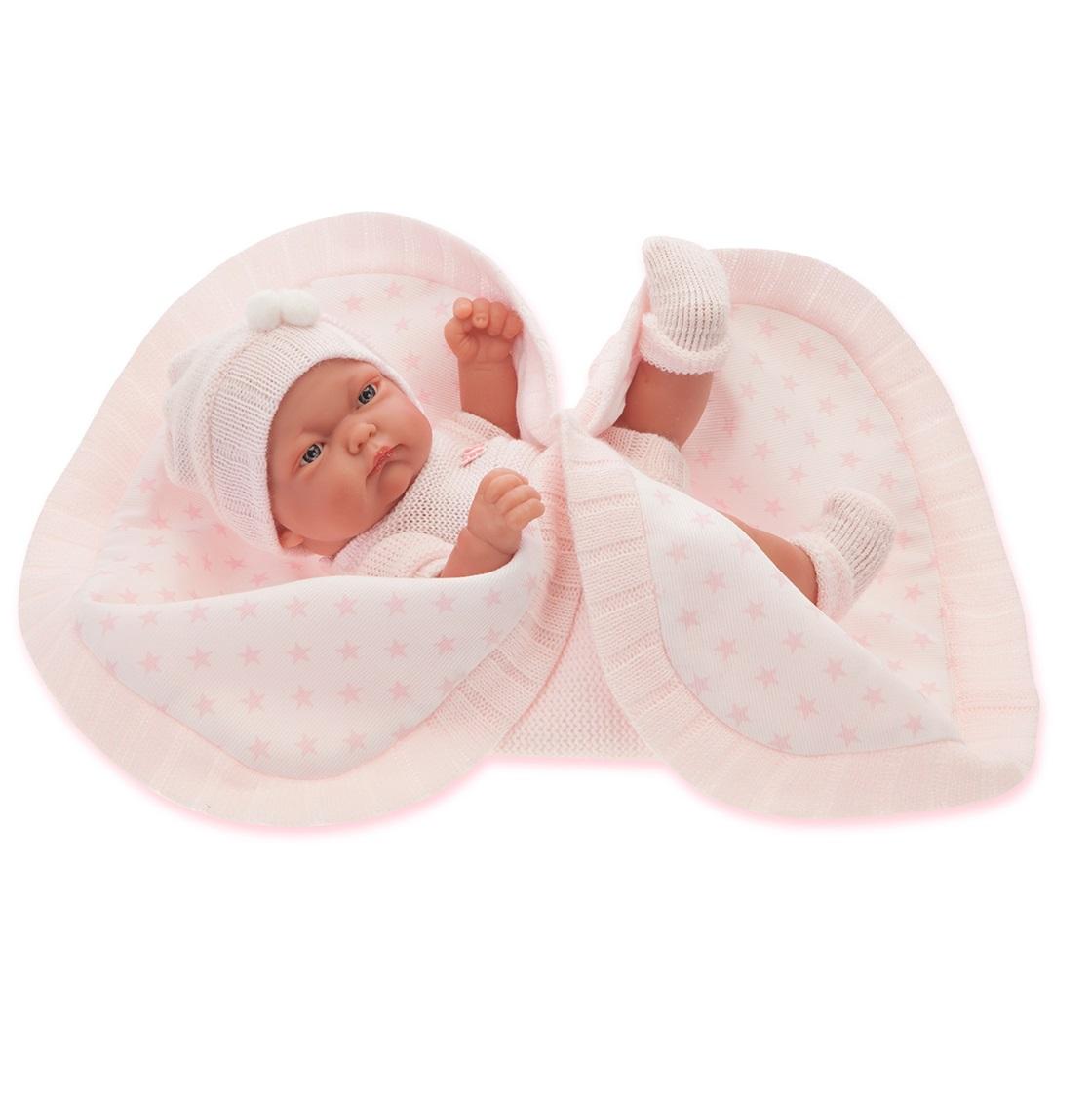 Кукла-младенец Карла в розовом, 26 см.Куклы Антонио Хуан (Antonio Juan Munecas)<br>Кукла-младенец Карла в розовом, 26 см.<br>