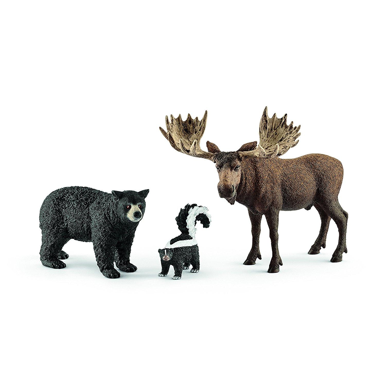 Купить Набор фигурок - Жители лесов Северной Америки, Schleich