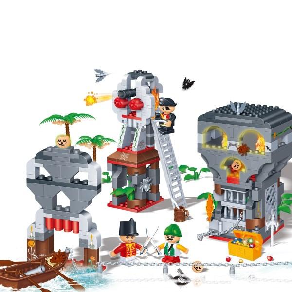 Развивающий конструктор - Сражение на острове пиратовКонструкторы BANBAO<br>Развивающий конструктор - Сражение на острове пиратов<br>