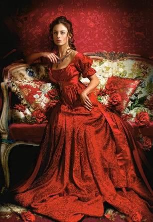 Пазл Castorland 1500 деталей, Девушка в красномПазлы<br>Пазл Castorland 1500 деталей, Девушка в красном<br>