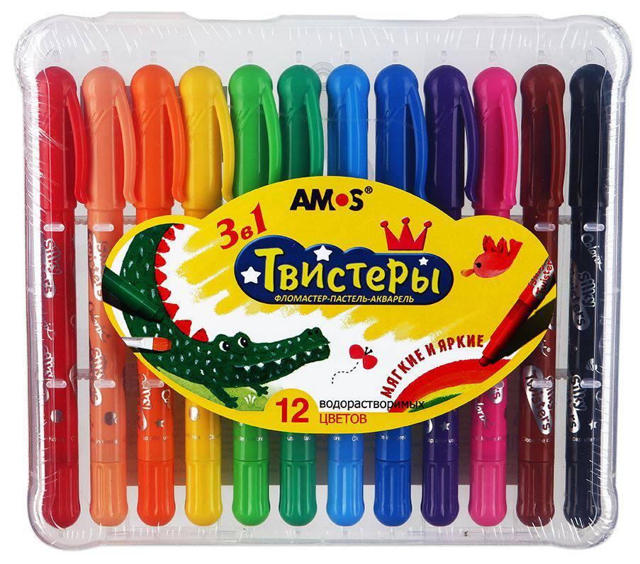Набор карандашей 3 в 1: фломастер-пастель-акварельФломастеры<br>Набор карандашей 3 в 1: фломастер-пастель-акварель<br>