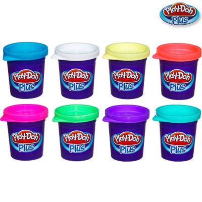 Игровой набор из 8 баночек пластилина Play-Doh PLUS - Пластилин Play-Doh, артикул: 68775