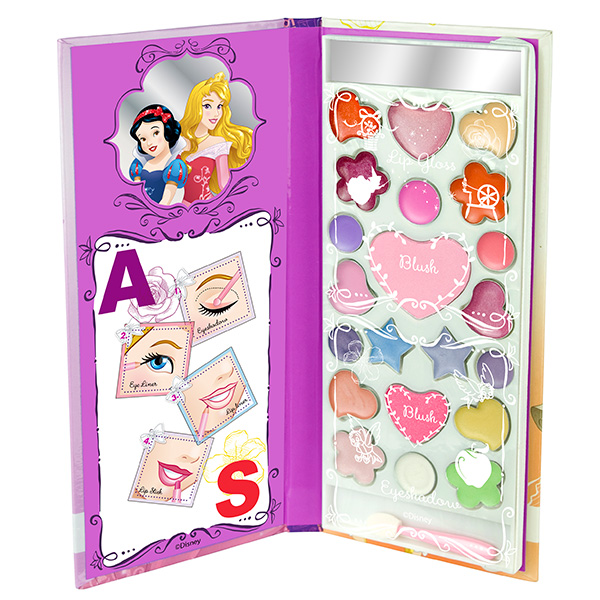 Набор детской декоративной косметики из серии Princess, в книжке ASЮная модница, салон красоты<br>Набор детской декоративной косметики из серии Princess, в книжке AS<br>
