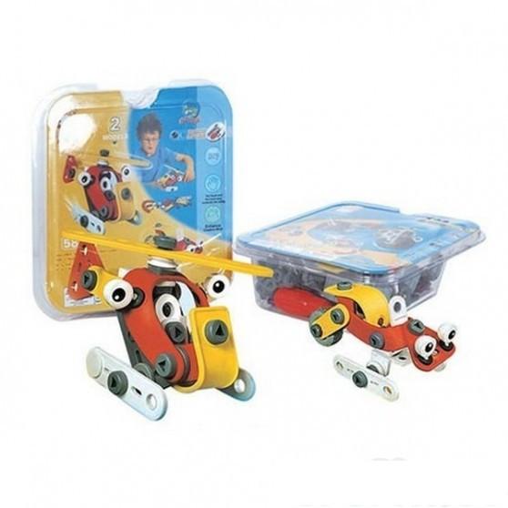 Купить Конструктор Build & Play - Собери вертолетик и снегокат, 58 деталей, Shenzhen Toys