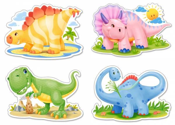 Пазл Castorland 4 в 1 , ДинозаврикиПазлы<br>Пазл Castorland 4 в 1 , Динозаврики<br>