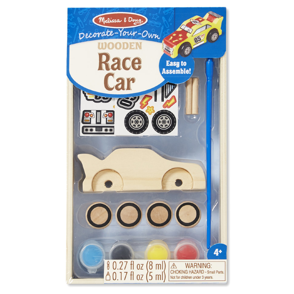 Набор для творчества - деревянная гоночная машинка из серии Классические игрушкиПаровозики и машинки<br>Набор для творчества - деревянная гоночная машинка из серии Классические игрушки<br>