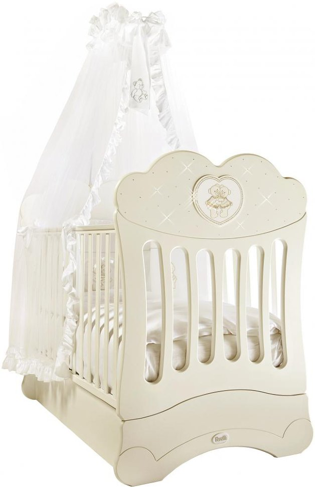Кровать детская Fms Chaton AvorioДетские кровати и мягкая мебель<br>Кровать детская Fms Chaton Avorio<br>