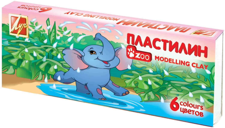 Пластилин – Зоо, 6 цветов, 81 гНаборы для лепки<br>Пластилин – Зоо, 6 цветов, 81 г<br>