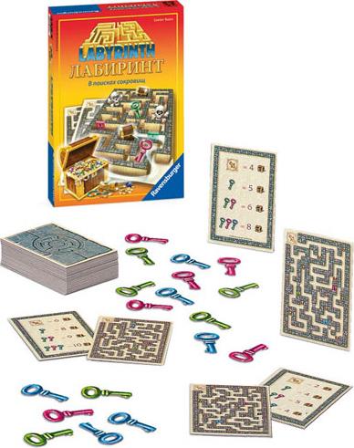 Настольная игра  Лабиринт. В поисках сокровищ  - Головоломки, артикул: 108198