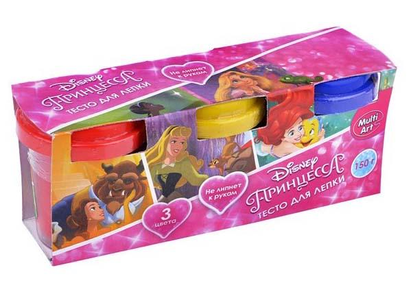 Набор Disney Принцессы - Тесто для лепки, 3 цвета Multiart
