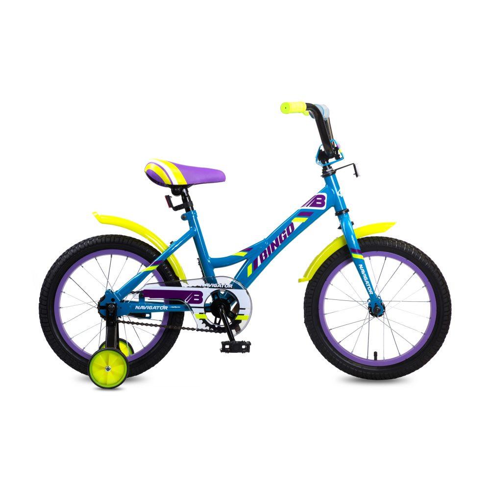 Детский велосипед - Bingo, колеса 16 дюйм, синий