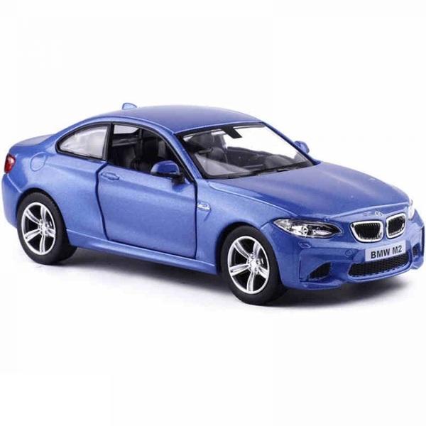 Металлическая инерционная машина - BMW M2 Coupe with Strip, 1:36, синий фото