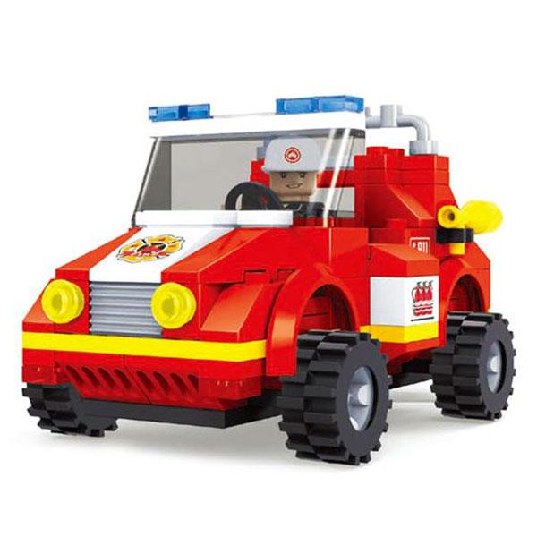 Конструктор Пожарная бригада. Пожарный автомобиль, 133 деталиКонструкторы других производителей<br>Конструктор Пожарная бригада. Пожарный автомобиль, 133 детали<br>