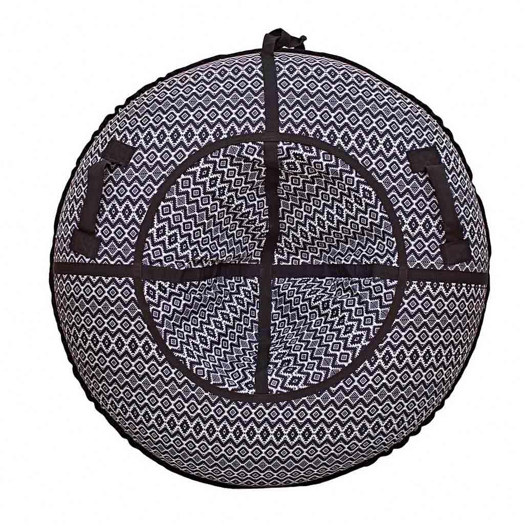 Санки надувные - Тюбинг, скандинавский орнамент черный, диаметр 118 смВатрушки и ледянки<br>Санки надувные - Тюбинг, скандинавский орнамент черный, диаметр 118 см<br>