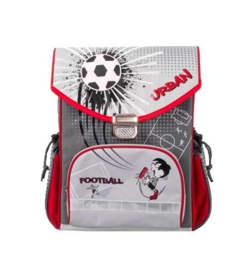 Купить Школьный рюкзак из серии Футбол, цвет – серый, Gulliver