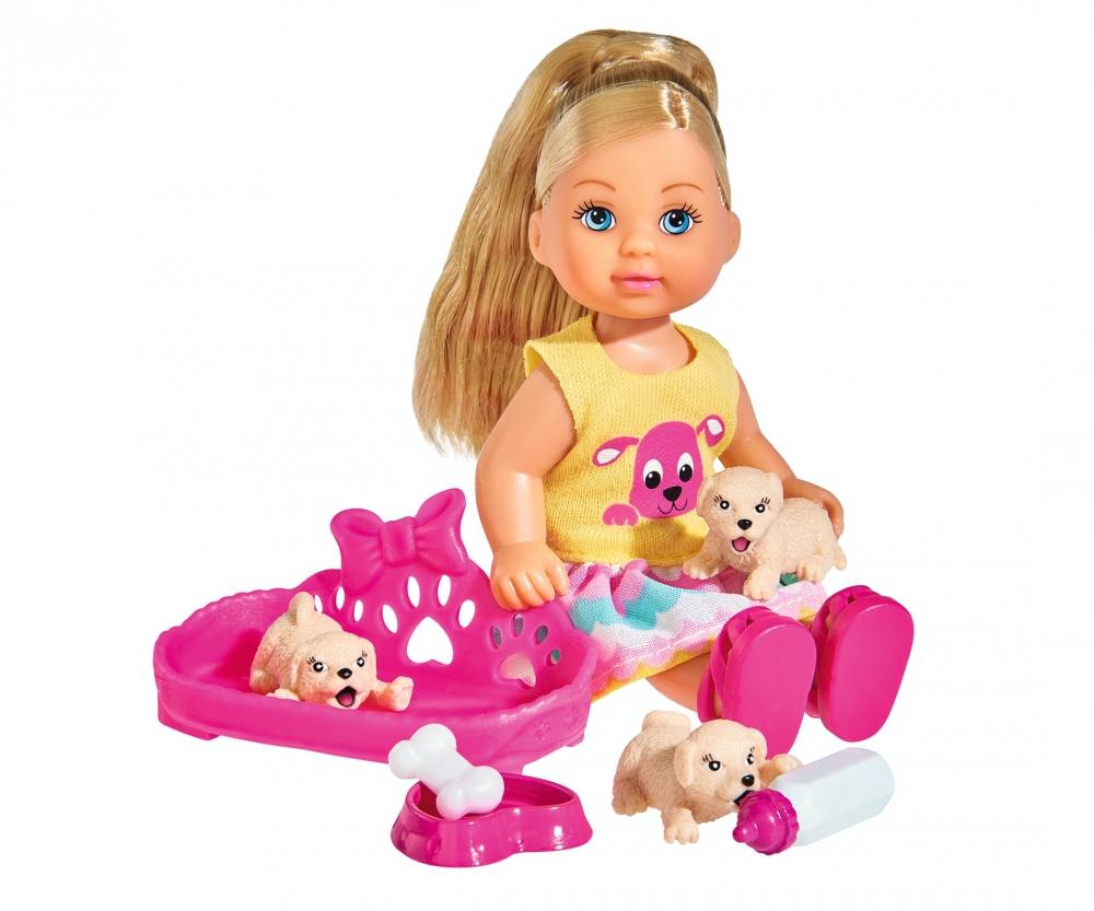 Кукла Еви с собачками, 12 см.Куклы Еви<br>Кукла Еви с собачками, 12 см.<br>
