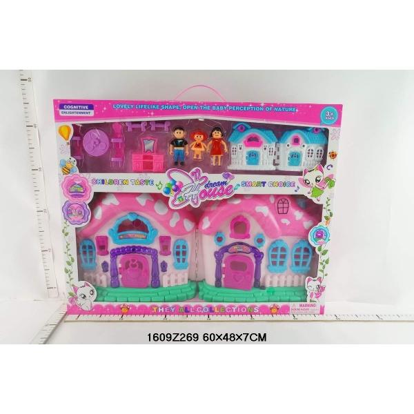 Дом для кукол Dream House с мебелью и фигурками, свет и звук - Кукольные домики, артикул: 167526