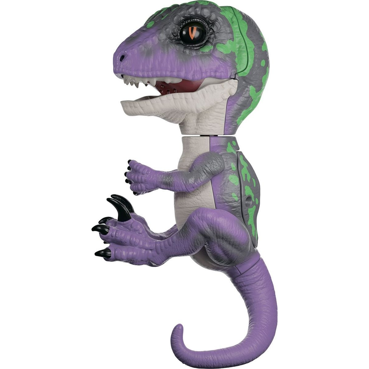 Купить Интерактивный динозавр Fingerlings Рейзор, фиолетовый с темно-зеленым, 12 см, WowWee