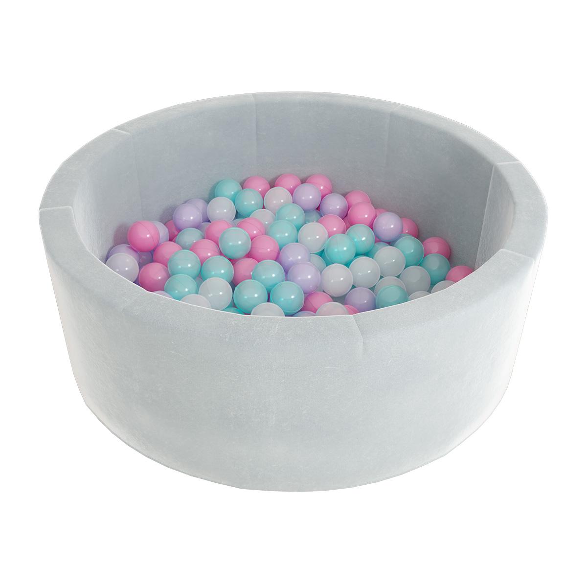 Купить Детский сухой бассейн Romana Airpool Max серый + 300 шаров, Romana (Романа)
