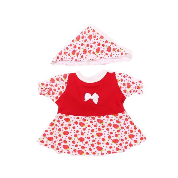 Одежда для куклы Карапуз, 40-42 см - Платье с косынкой, цвет красный