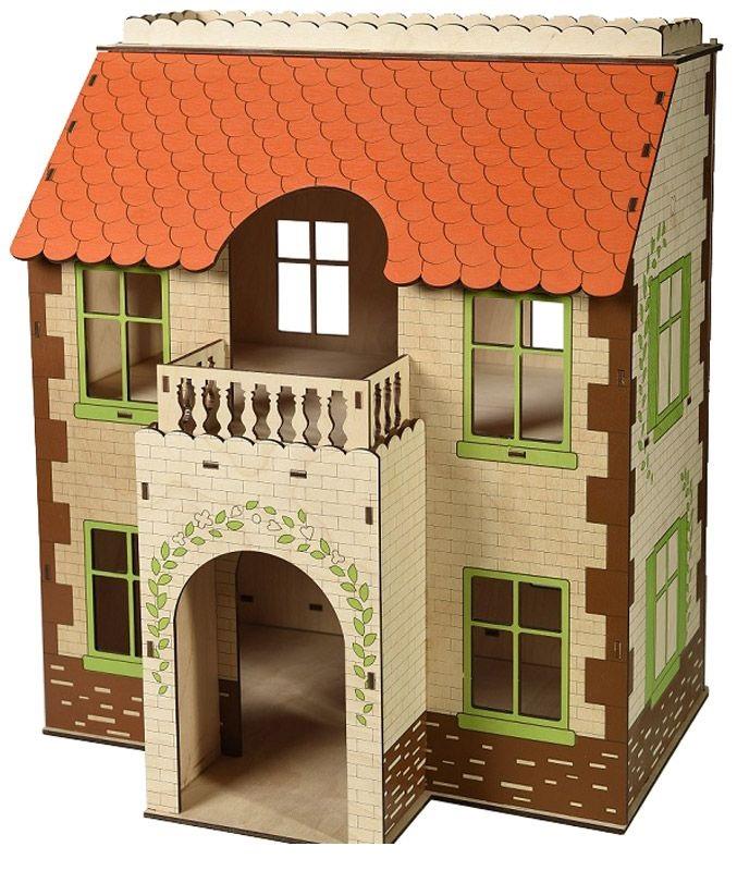 Кукольный дом с черепичной крышейКукольные домики<br>Кукольный дом с черепичной крышей<br>