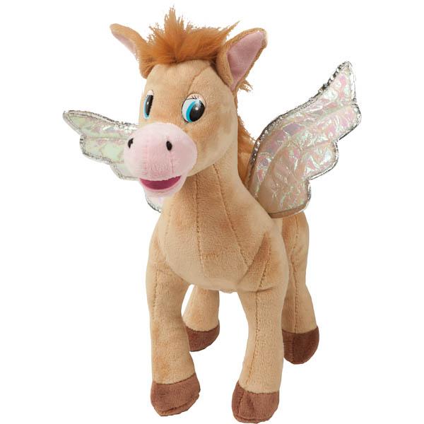 Мягкая игрушка - Лошадка с крыльями, 25 см бежевая/коричневаяГоворящие игрушки<br>Мягкая игрушка - Лошадка с крыльями, 25 см бежевая/коричневая<br>