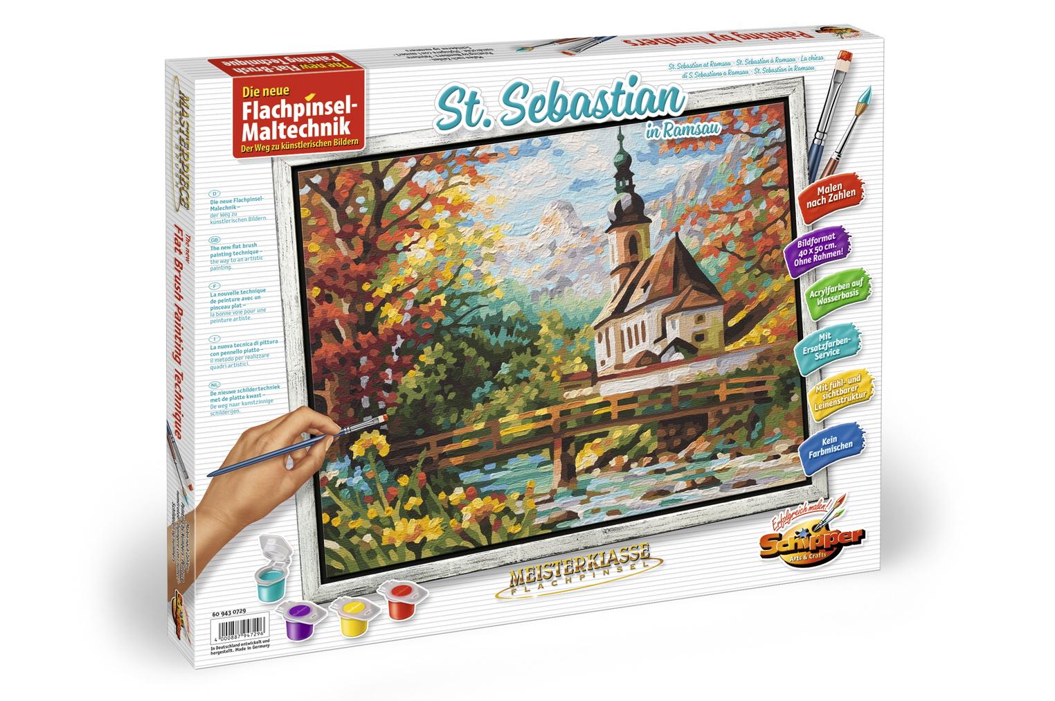 Купить Набор для росписи «Церковь святого Себастьяна в Рамзау», пастозная техника, 40 х 50 см, Schipper