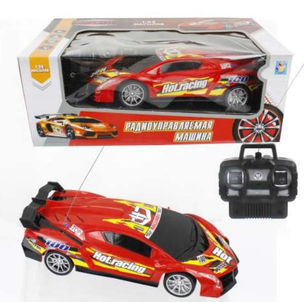 картинка Спортавто Машина на радиоуправлении 27 МГц, 20 см, 4 канала, на батарейках, свет, красная от магазина Bebikam.ru