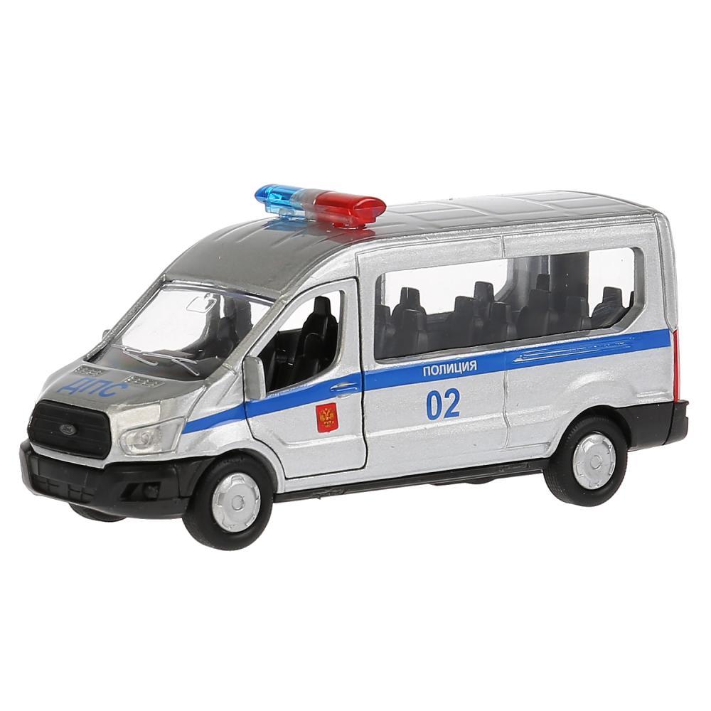 Купить Машина инерционная металлическая - Ford Transit - Полиция 12 см, открываются двери, Технопарк