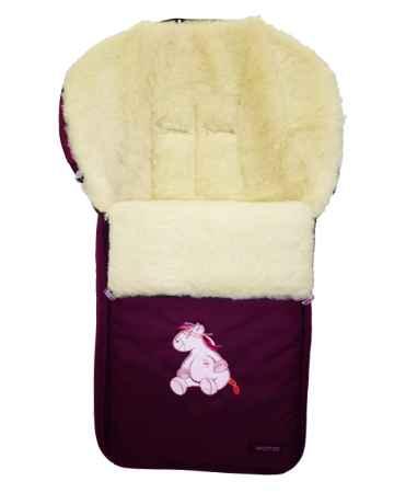 Спальный мешок в коляску №06 - Aurora, бордовый