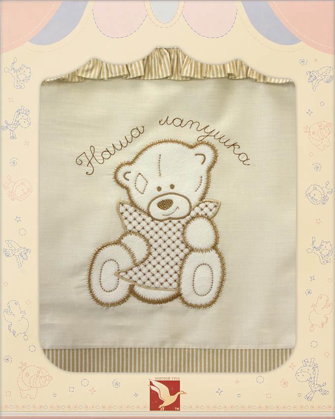 Постельное белье Лапушки, 3 предмета, цвет – бежевыйДетское постельное белье<br>Постельное белье Лапушки, 3 предмета, цвет – бежевый<br>