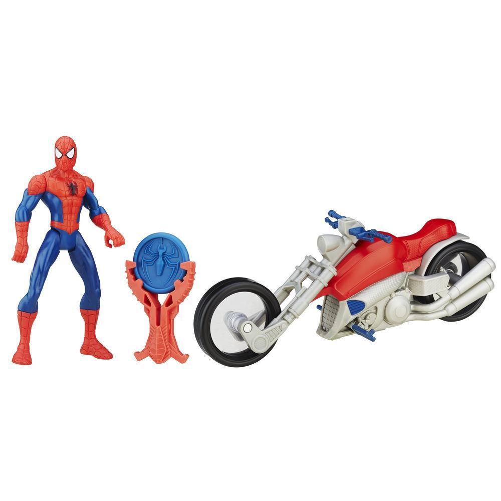 Фигурка Человек-паук из серии Spider-Man на гоночном мотоцикле - Герои MARVEL, артикул: 154609