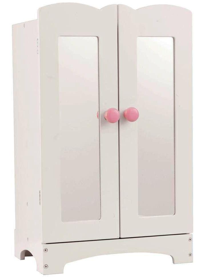 Кукольный шкаф для одежды с вешалкамиКукольные домики<br>Кукольный шкаф для одежды с вешалками<br>