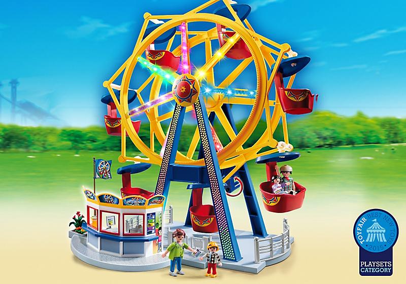 Игровой набор из серии «Парк развлечений» - Колесо обозрения с огнямиВеселые каникулы<br>Игровой набор из серии «Парк развлечений» - Колесо обозрения с огнями<br>