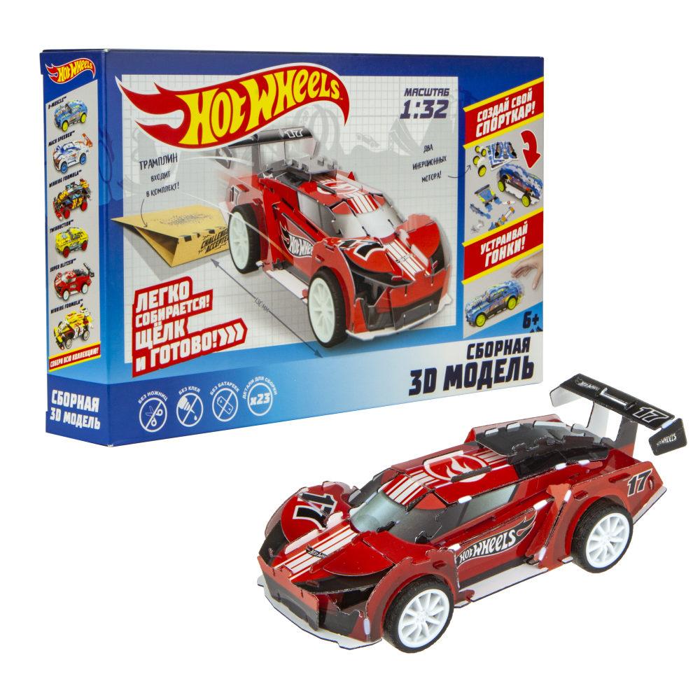 Купить Сборная модель из серии Hot Wheels - Super Blitzen с 2 инерционными двигателями, 1TOY