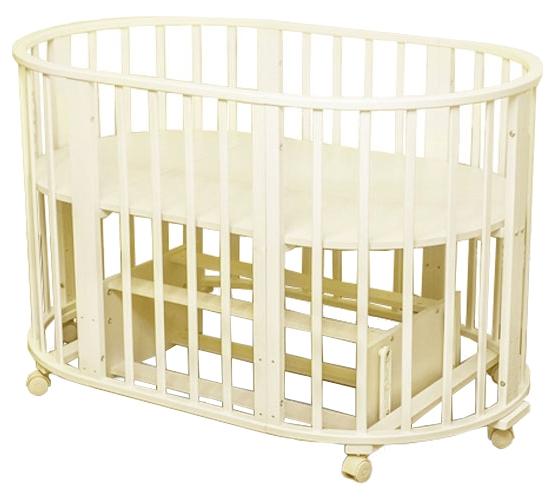 Круглая кроватка-трансформер Noony Cozy, цвет – слоновая костьДетские кровати и мягкая мебель<br>Круглая кроватка-трансформер Noony Cozy, цвет – слоновая кость<br>
